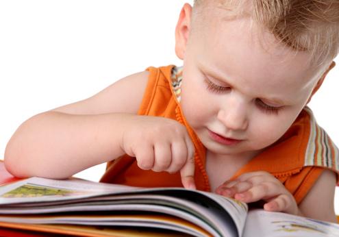 Kid studies to read